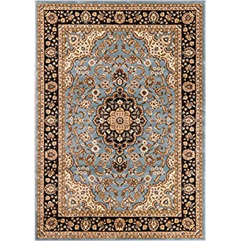 Well Woven Barclay Medallion Kashan Light Blue Traditional Area Rug 311 X