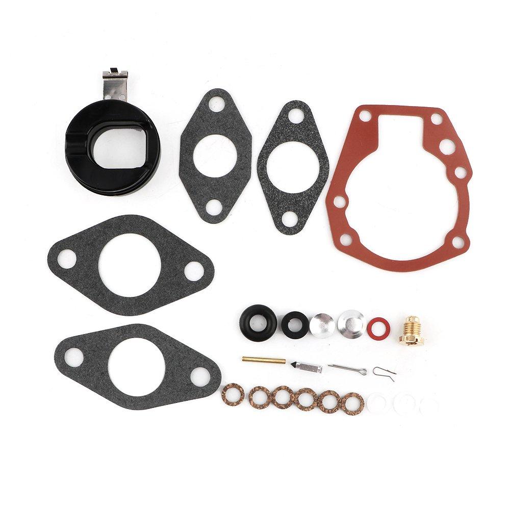 Carburetor Carb Rebuild Kit & Float for Johnson Evinrude 1.5 2 3 4 5 5.5 6 HP 439071 18-7043 By Mopasen