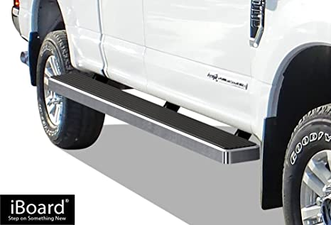 Wheel To Wheel Running Boards >> Aps Iboard Silver 6 Inches Wheel To Wheel Running Boards Nerf Bars Side Steps Step Rails Compatible With 2015 2020 Ford F150 Super Cab 6 5ft Bed