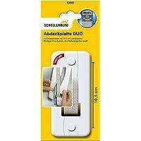 Schellenberg 53503 afdekplaat DUO gatafstand 10,5 cm voor inbouw riemwikkelaar, systeem Maxi: 23 mm riembreedte…