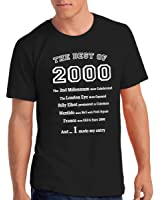"""Mens """"The Best of 2000"""" 17th Birthday T Shirt Gift, 100% Soft Cotton"""