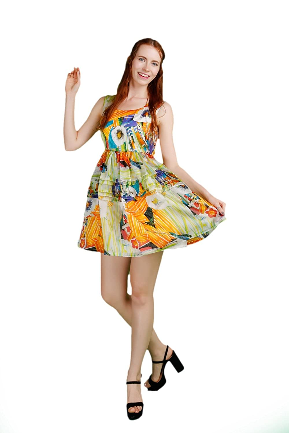 EAST&WEST Poster Printing Tower Skater Dress