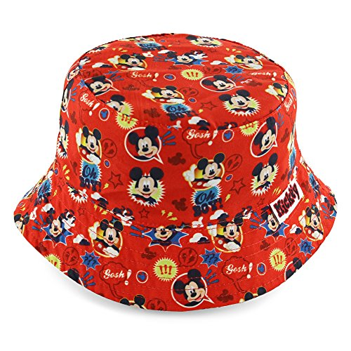 Disney Mickey Mouse Boys' Red Bucket Hat -