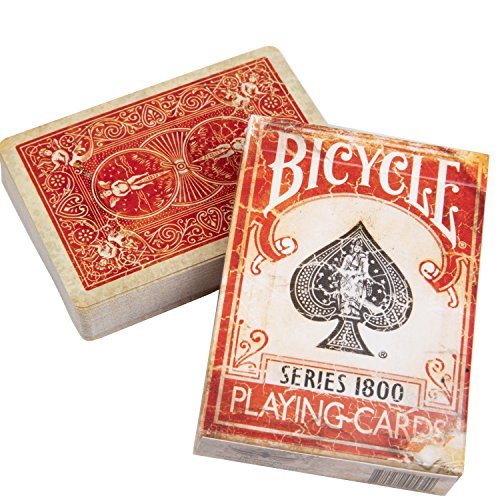 Bicycle 1800 Vintage Series Playing Cards by Ellusionist (Red) (Playing Vintage Cards)
