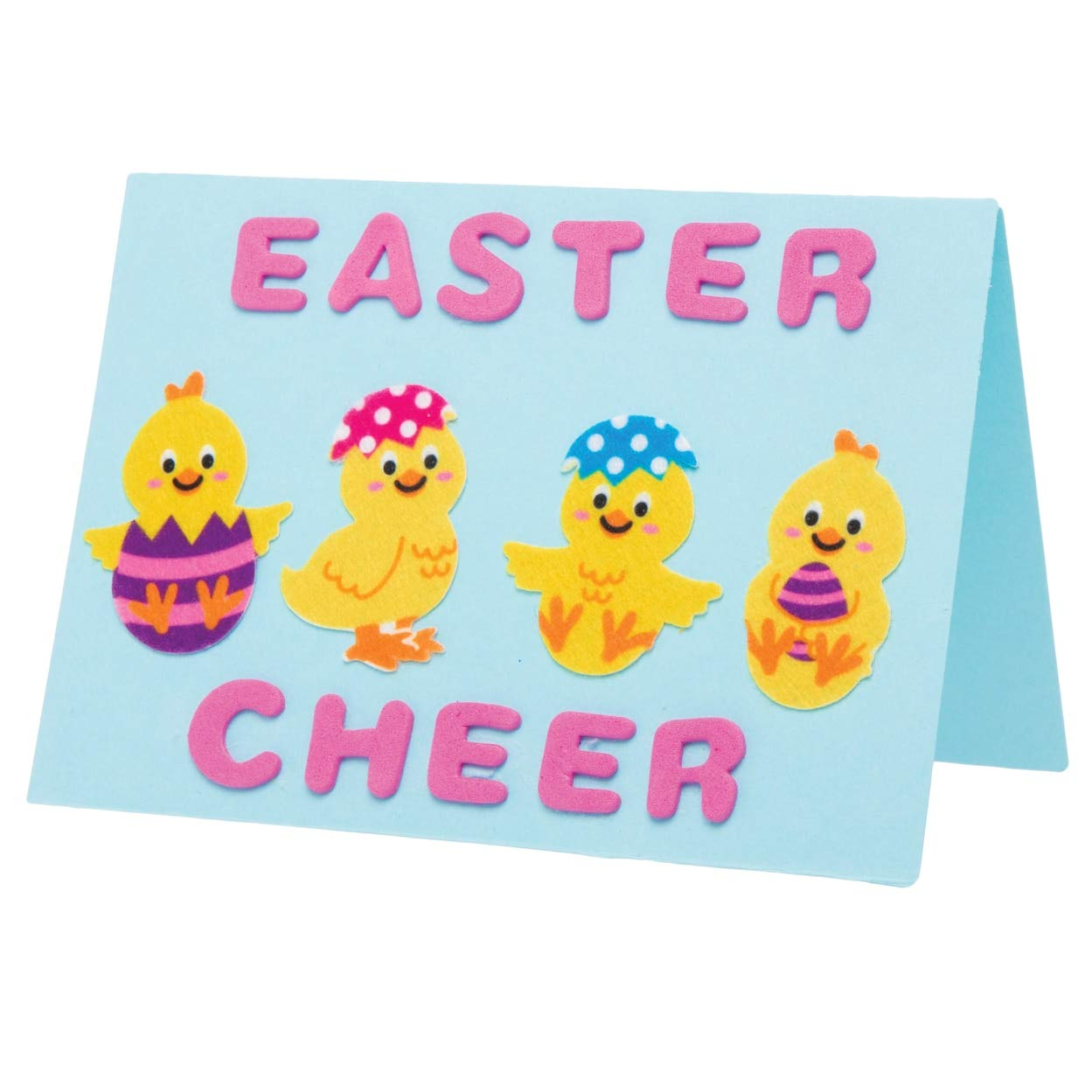 Small Stickers for Childrens Art and Craft Projects 100 Pack Baker Ross Easter Chick Felt Stickers