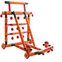 Wood Craft Budhni Wooden Activity Walker for Baby (Multicolour)