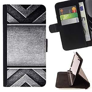 - Metallic Faux Steel X Sci Fi - Estilo PU billetera de cuero del soporte del tir???¡¯???3n [solapa de cierre] Cubierta- For LG Nexus 5 D820 D821 ( Devil Case )