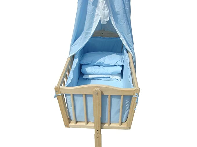 Babywiege stubenwagen schukelwiege wiege inkl. rollen und zubehör