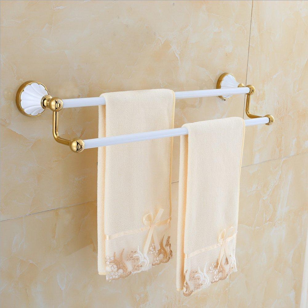 ZHH Handtuchhalter Gold Weiß Handtuchhalter Handtuchhalter