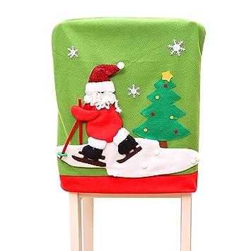 Vanker Noel Santa 3d Chaise De Table De Siege De Salle A Manger De