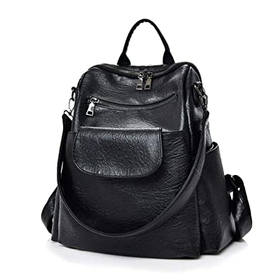 Amazon.com  Artwell Women Backpack Purse Washed Leather Ladies Rucksack  School Shoulder Bag  Shoes 0ab358f275e7e