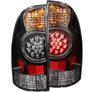 Image of Anzo USA 311042 Toyota Tacoma Black LED Tail Light Assembly - (Sold in Pairs) Tail Light Assemblies