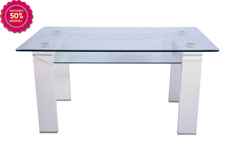 Mesa de salón comedor cristal templado cm