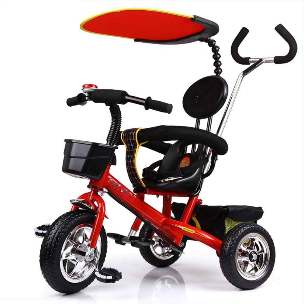 rouge  MYMGG Poussette bébé 3 en 1 réglable détachable Tricycle Multifonctionnel pour Enfants Convient aux Enfants de 1 à 6 Ans