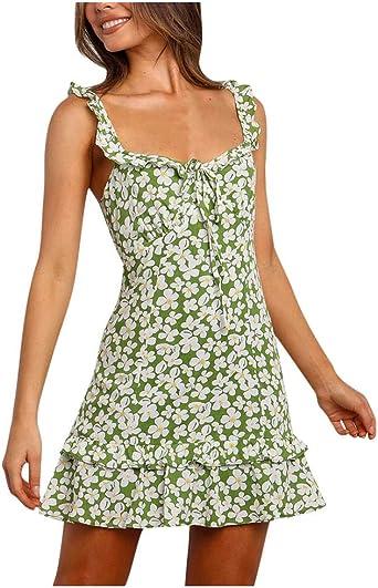 MEIbax damska sukienka plażowa, letnia, z krÓtkim rękawem, elegancka, na imprezę: Odzież