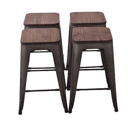 Amazoncom Changjie Furniture 26 High Backless Metal Bar Stool