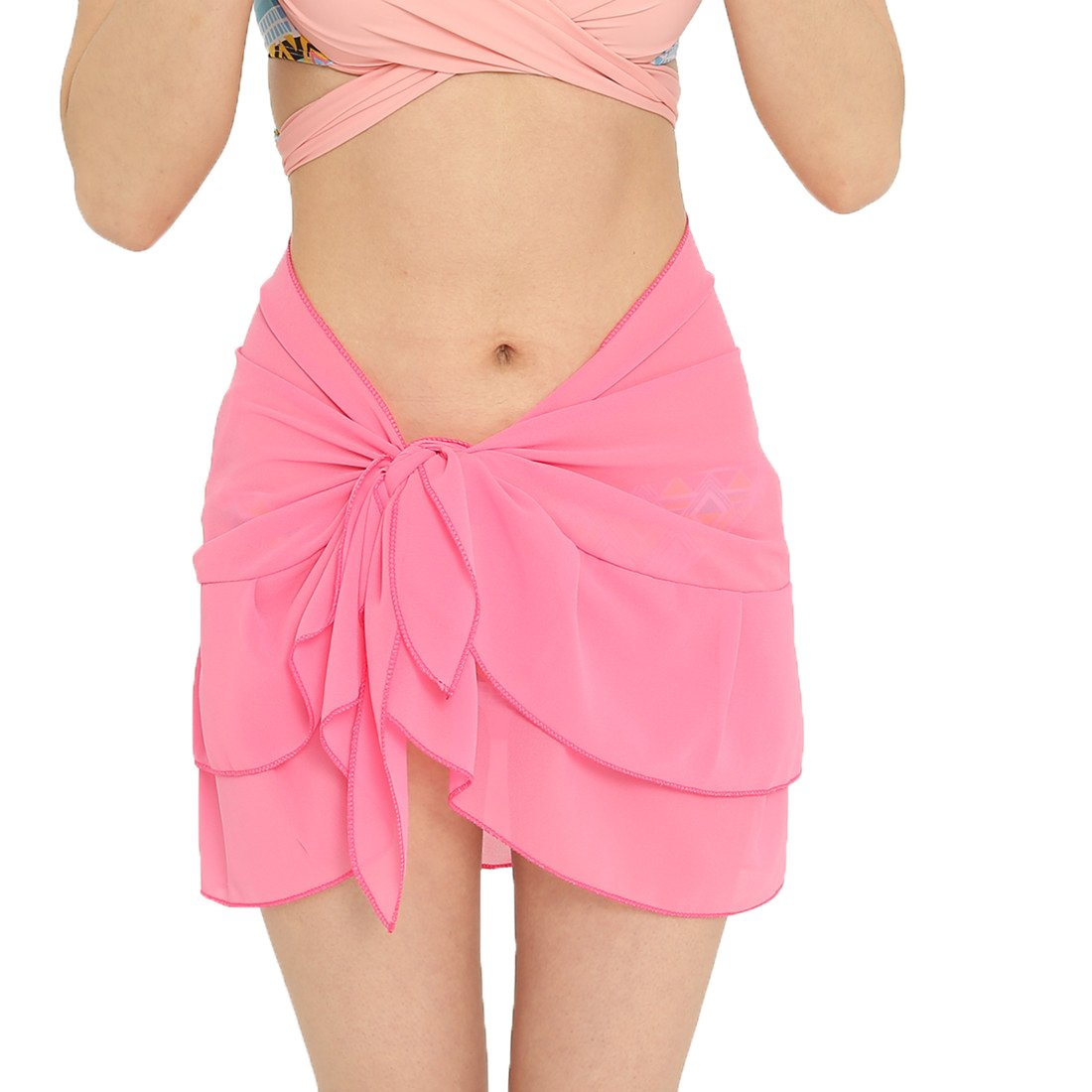 11043ec52f94b Online Cheap wholesale Leeaw Womens Chiffon Beach Cover Up Sarong Multi  Swimwear Ruffle Skirt Swimsuit Wrap Cover-Ups Suppliers
