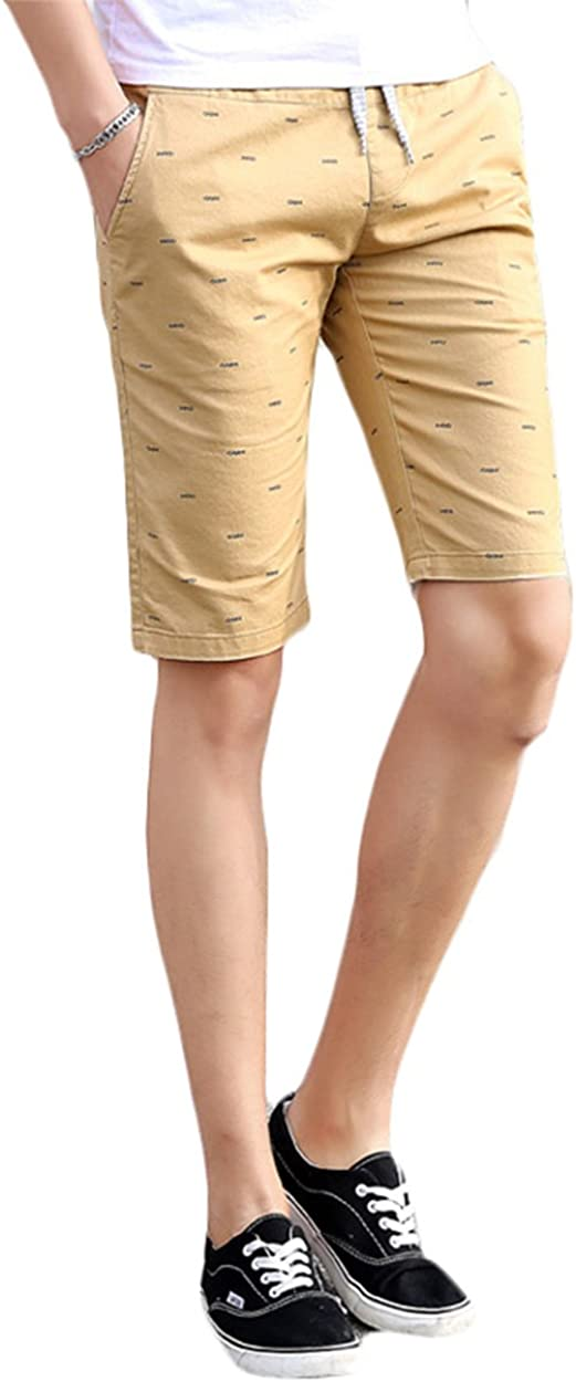 K/&S Young Mens Casual Style Cotton Slim-Fit Straight Short Beach Shorts