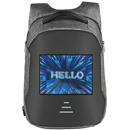 Amazon.com: LED Dynamic Backpack Portable Advertising School Bag Mobile Billboards Lightweight Walking Advertising Screen for Boys Girls Men Women: Sports & ...