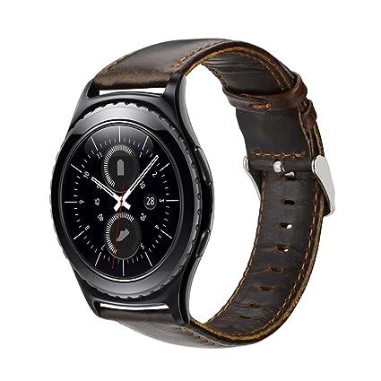 MroTech Bracelet de Montre 20mm Compatible pour Samsung Gear S2 Classic, Galaxy Watch 42mm,