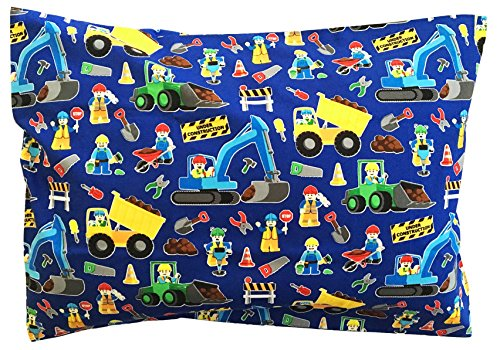 The-Toddler-Pillow-Co-Construction-Pillowcase-Handcrafted-in-USA-Perfect-Fit-for-13x18-and-13x19-Pillows