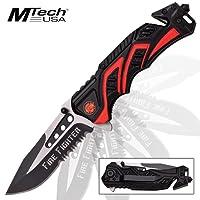 M-Tech Beau couteau de sauvetage pour pompiers