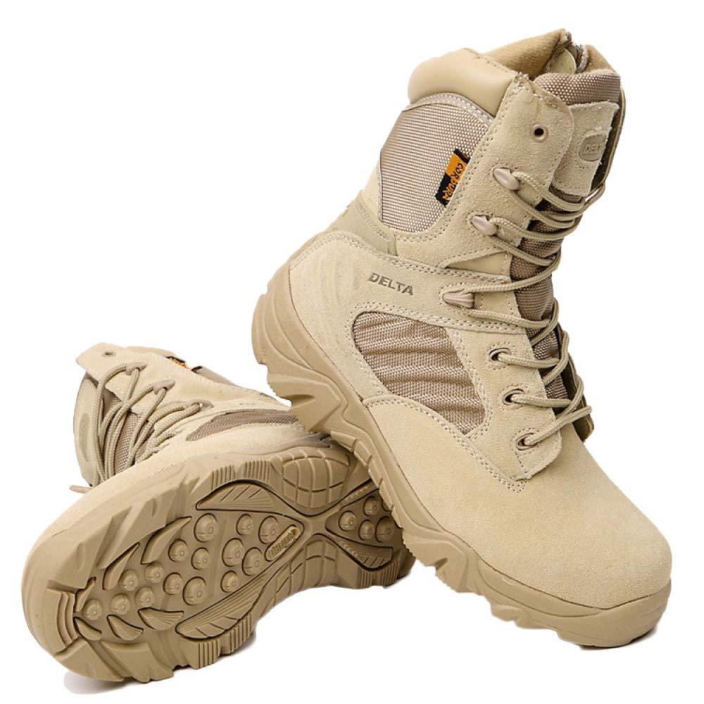 WWJDXZ Zapatos de Senderismo para Hombres, Ligeros, Impermeables, Zapatos Altos