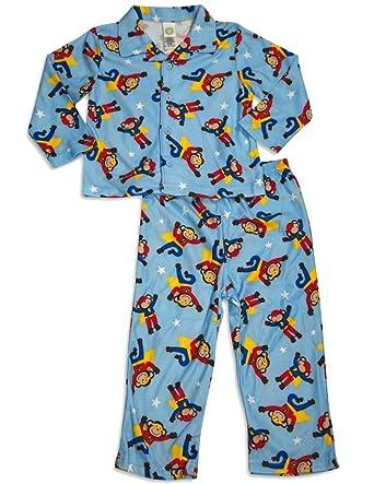 Amazon.com: Little Me Super Monkey Pajamas for Baby Boys 18Months ...