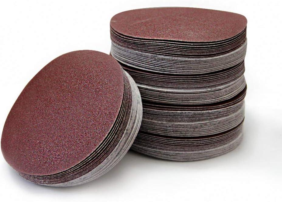 FANLLOOD Round Sandpaper 20pcs 9 Inch 215-220mm Round Sandpaper Disk Sand Sheets Grit 60-320 Hook and Loop Sanding Disc for Sander Grits Grit 180