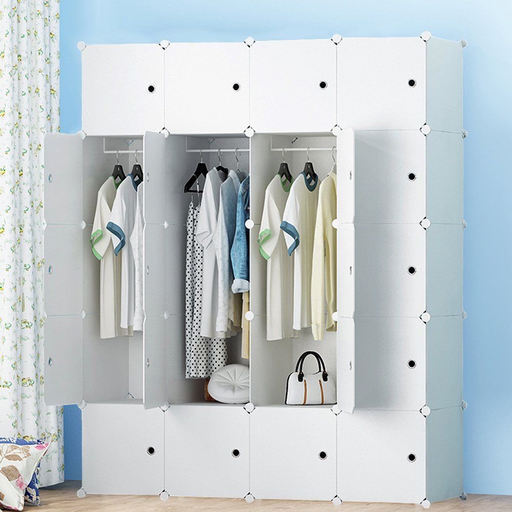 premag portable wardrobe for hanging clothes combination armoire modular ebay. Black Bedroom Furniture Sets. Home Design Ideas