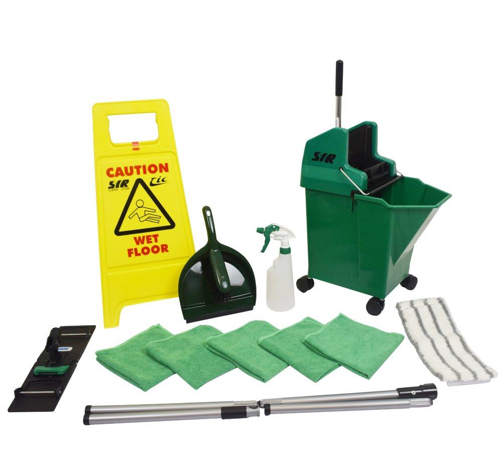 SYR 994715AMZ Mopping Kit, Starter, Flat, Green SYR Ltd