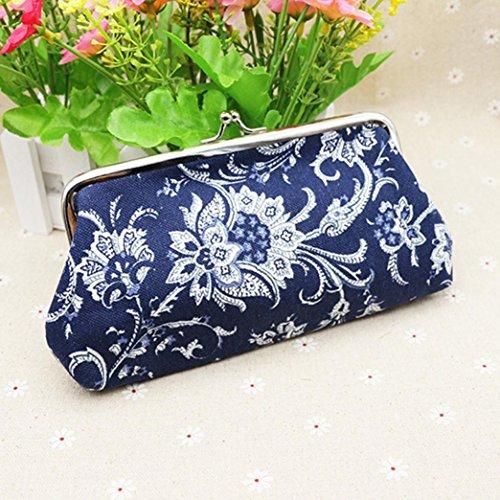 YJYdada Womens Wallet Card Holder Coin Purse Clutch Bag Handbag (Blue)