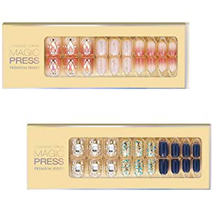 [DASHING DIVA–Nails]Premium Magic Press Super Slim Fit(2 Different Designs 30+30strips in 12 sizes) Soft Touch+Brilliant 263/4ssc