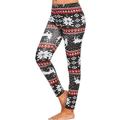 Amazon Com 4clovers Christmas Yoga Pants Fashion Women