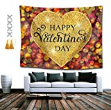 SUNH0ME Tapestry Queen Happy Valentines Day Decor Mandala Beach Bedspread Intricate Indian Bedspread Tapestries 60 x 80 Inches