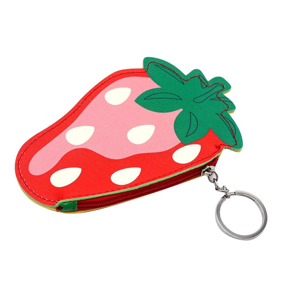 gzzebo Encantadora caricatura de imitaci/ón de cuero forma de fruta monedero titular de la tarjeta cremallera mini billetera