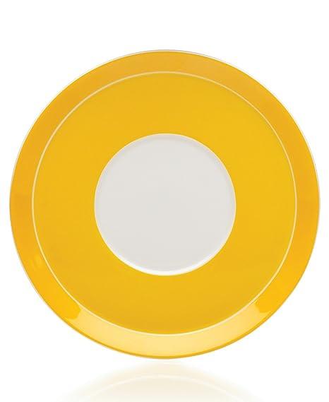 6.5-Ounce Yellow Lifetime Brands 5059891 Mikasa Circle Chic Tea Saucer