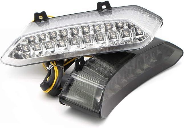 Fanale posteriore a LED per motocicletta Indicatore di direzione integrato di stop adatto per Yamaha YZF R1 2002 2003 ATV Raptor 700 Lente trasparente