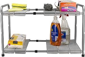 Home Basics Under The Sink 2-Tier Adjustable Cabinet Organizer