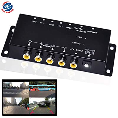 Auto Wayfeng WF IR Control 4 Cameras Video Control Car Cameras Image Switch Combiner Box for Left View Right View Front Rear Parking Camera Box: Car Electronics