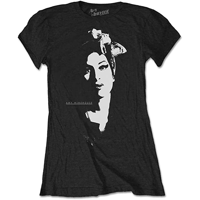 d2b62b4961a Tee Shack Ladies Amy Winehouse Back To Black Frank Oficial Camiseta Mujeres  señoras: Amazon.es: Ropa y accesorios