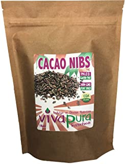 product image for Cacao Nibs, Ceremonial Grade, Raw, Organic, 16 oz, Compostable Bag