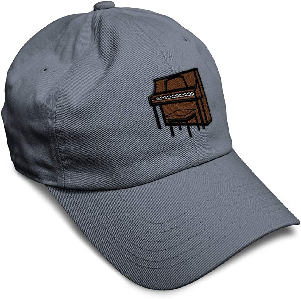 Custom Soft Baseball Cap Upright Piano Embroidery Dad Hats for Men /& Women