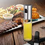 Olive Oil Sprayer for Cooking, Oil Spray Bottle Oil Dispenser Vinegar Bottle with 2 Bonus BBQ Oil Brushes for Kitchen Baking, Salad, Roasting, Frying and Barbecue Grills by MAYBEST 12
