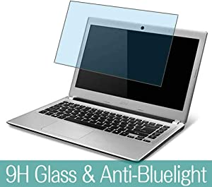 """Synvy Anti Blue Light Tempered Glass Screen Protector for ACER Aspire V5-431 / V5-431G 14"""" Visible Area 9H Protective Screen Film Protectors (Not Full Coverage)"""