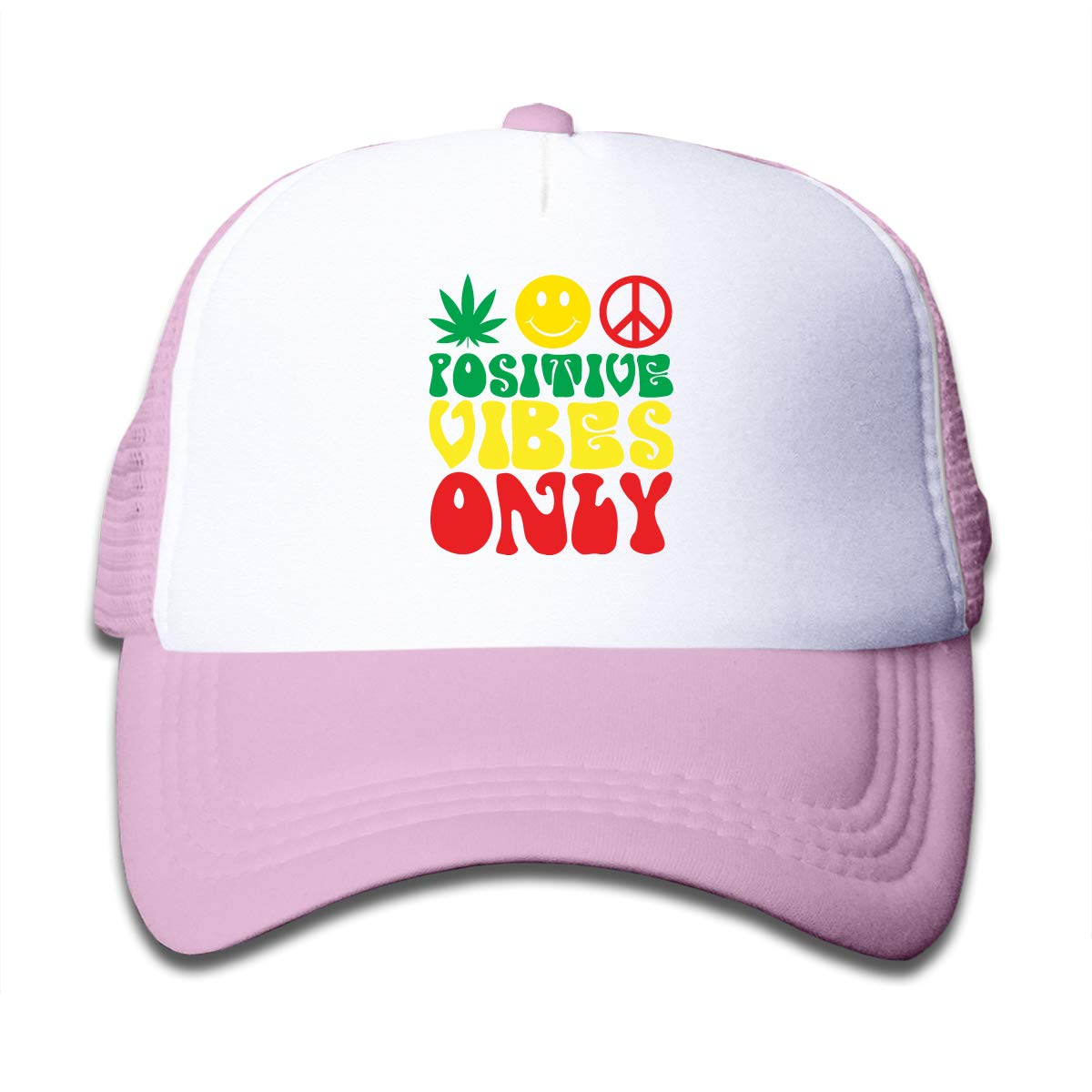 Positive Vibes Only Kids Summer Caps Black