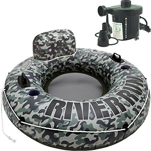 Intex Saltwater Chlorine Generator (Intex Inflatable River Floating Tubes Outdoor Pool Lounge Float for Adults and Kids with Electric Pump)