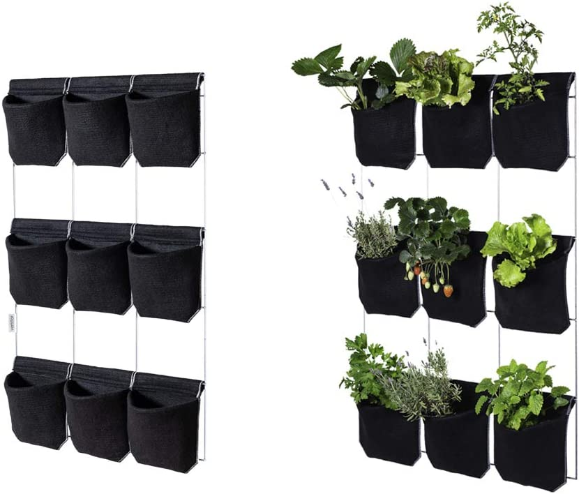 Vertiflor Huerto Vertical para 9 Plantas. Color Negro, 100 x 71 x ...