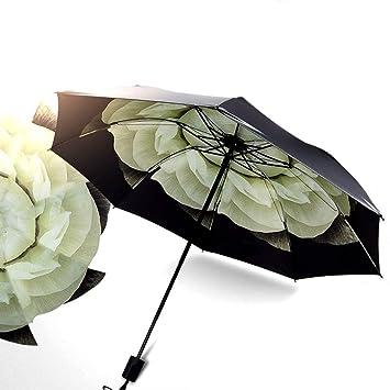 SHARLLEN Sombrilla de Viaje - Ligera sombrilla Anti Lluvia UV para Hombres Mujeres y Niños,