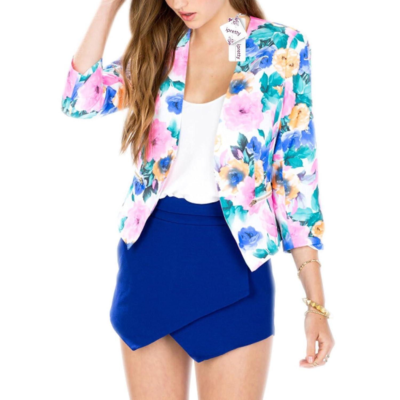 ipretty Damen Kimono Cardigan damen kurz Cover Strand Mantel Sommer